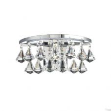 Dar Lighting - Fringe Wall Light (FRI0750) - IP44 1 x 25W G9 Halogen - Polished Chrome With Crystal Glass Decoration